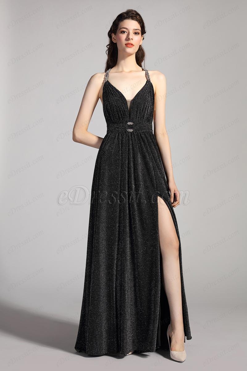 eDressit Sexy V-Cut Necline Shiny Elegant Evening Dress (00208000)