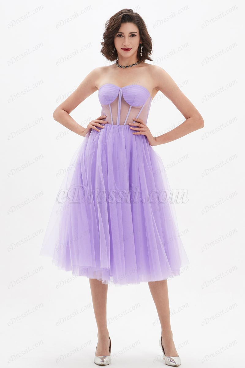 eDressit Lovely Purple Corset Polyester Bone Tulle Party Dress (04210406)
