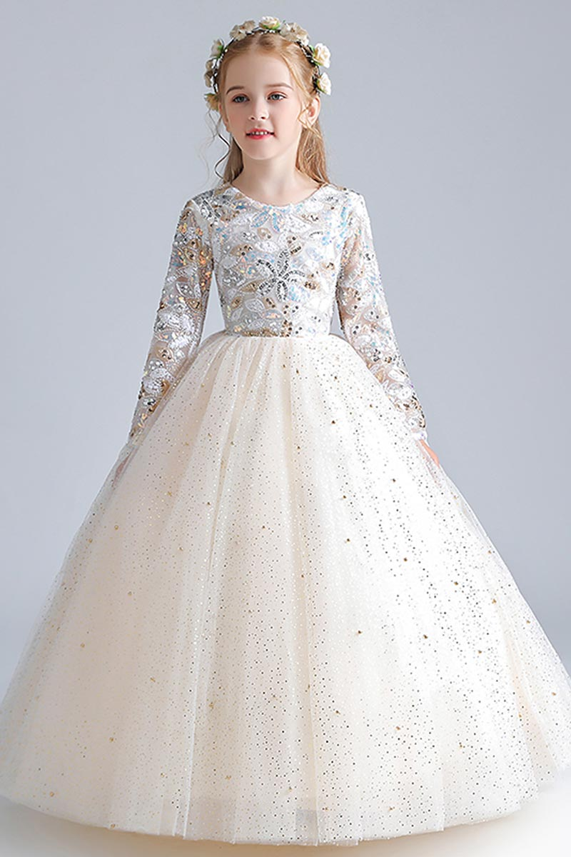 eDressit White Embroidery Lace Tulle Flower Girl Dresses (27211707)