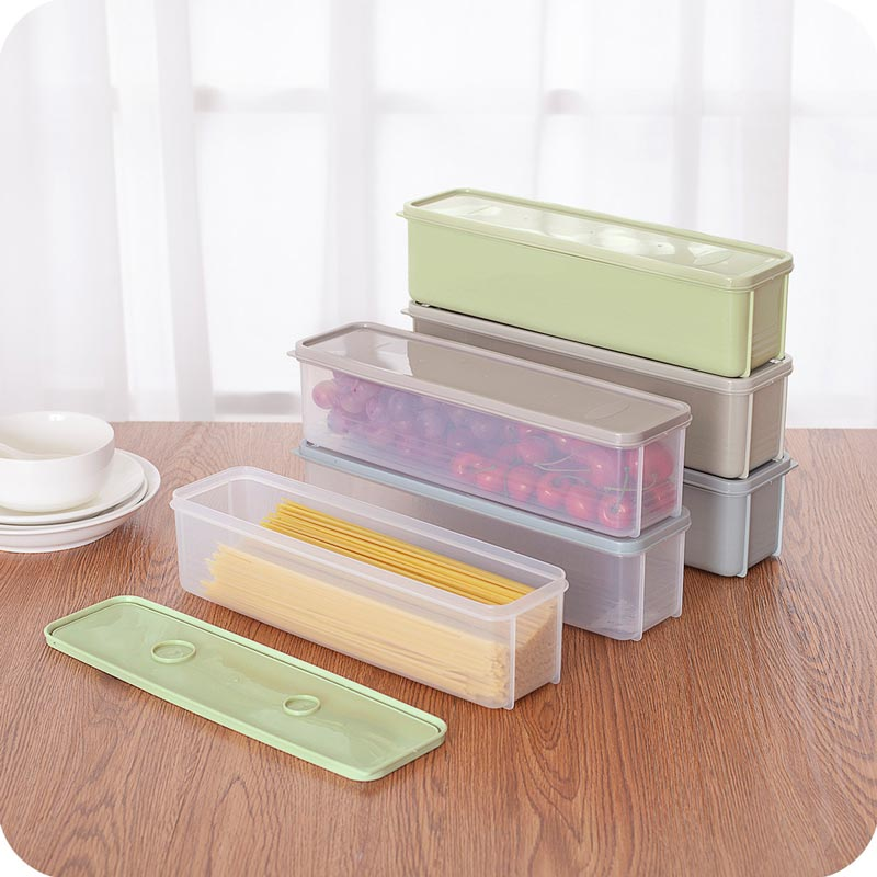 Storage Box Refrigerator Plastic Food Preservation Sealed Box with Lid (TB0006)