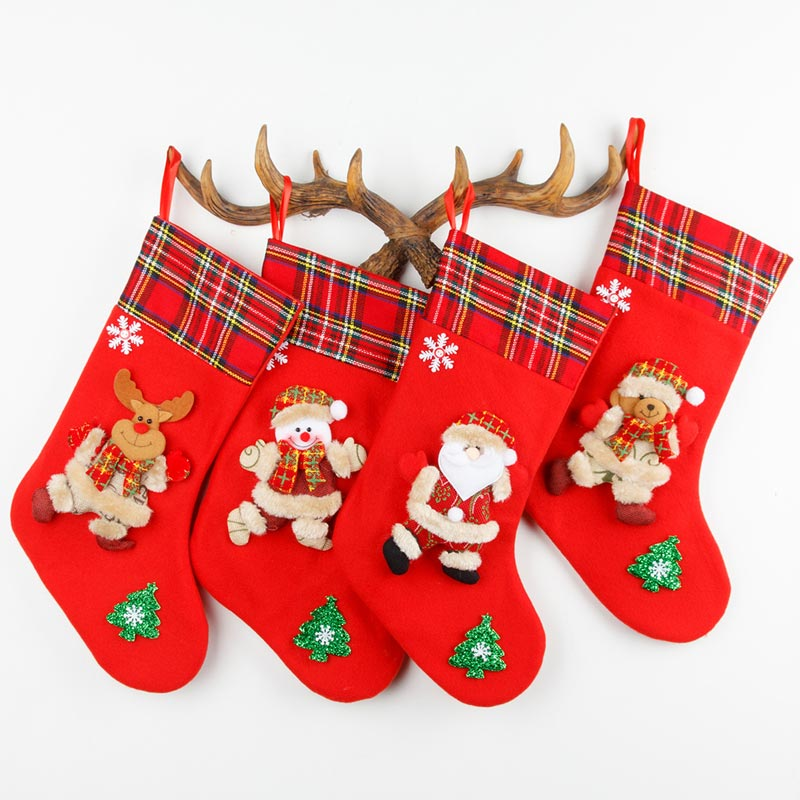 Festival Kids Christmas Socks Gift Bags Candy Socks (TF0007)