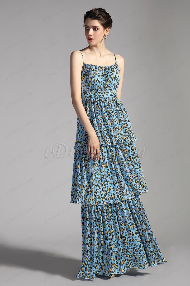 eDressit Neues bedrucktes Einfaches elegantes Partykleid (00206668)