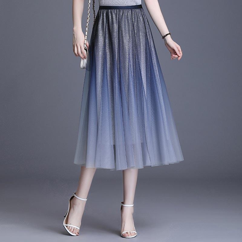 Women's A Line Tea Length Tutu Tulle Prom Party Dance Skirt (T440002)