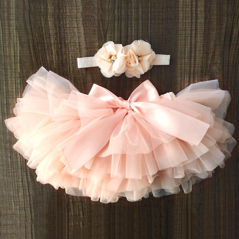 Baby Tutu Skirts for Toddler Girl Tutu Dress Flower Headband (T410003)