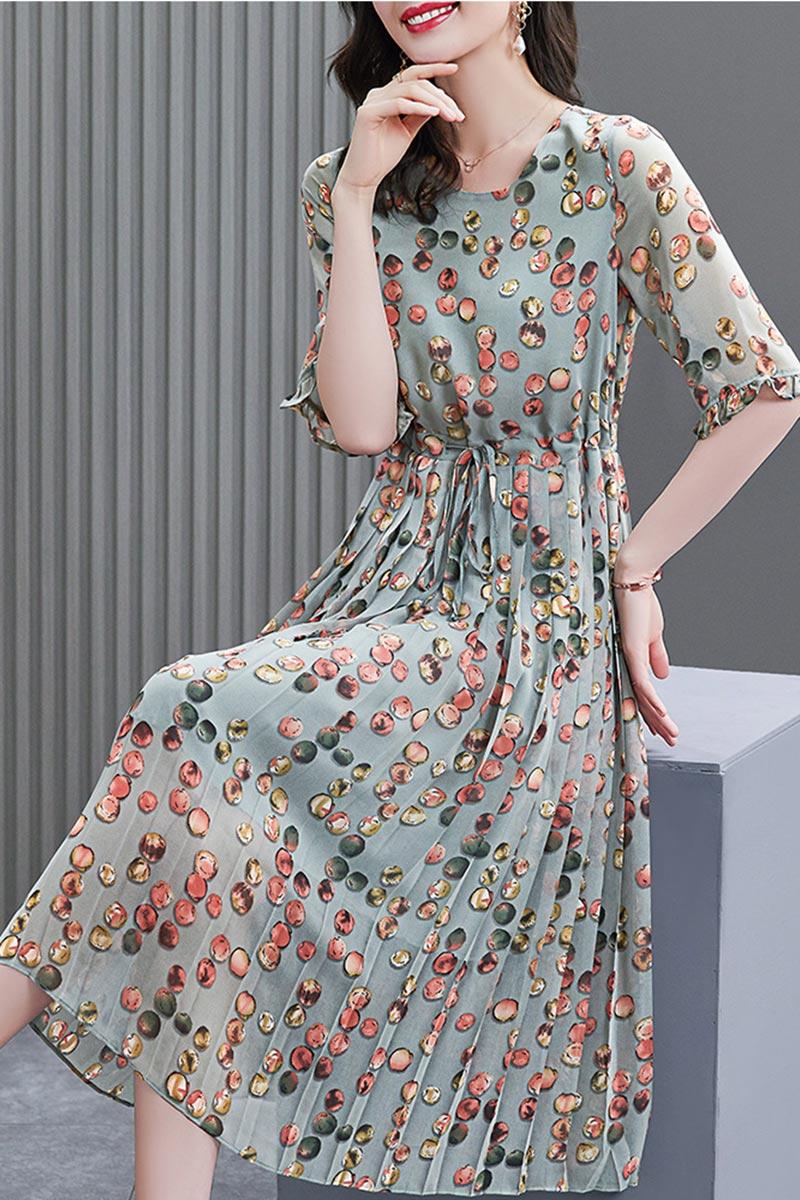 eDressit Women Printed Chiffon Holiday Party Maxi Dress (T061017)
