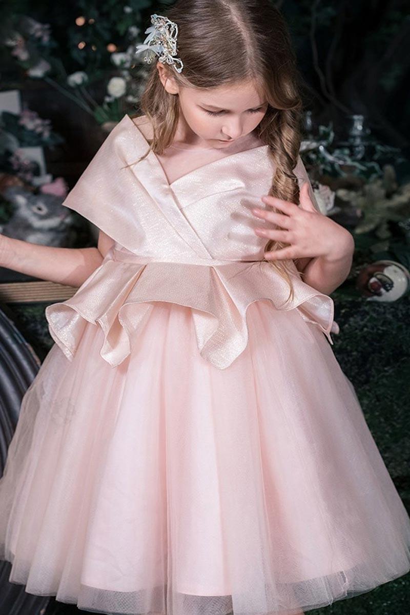 eDressit Light Pink A-line Cap Sleeve Flower Girl Dress (T27005)