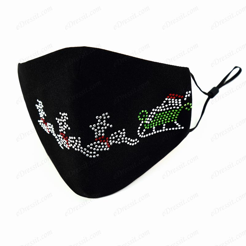 Protective Dust Washable Christmas Face Mask with Beads (Mask022)