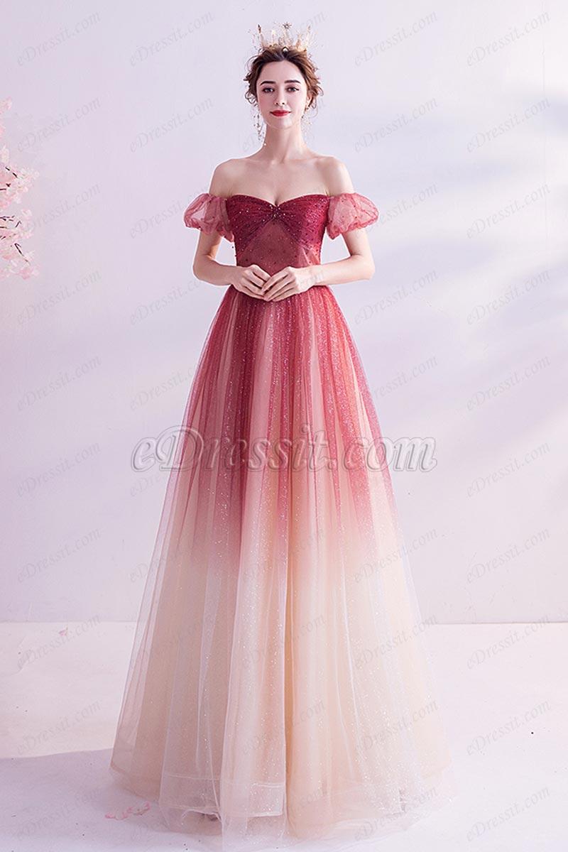 eDressit Sexy Gradient OFF Shoulder Shiny Sequins Party Evening Dress (36224502)