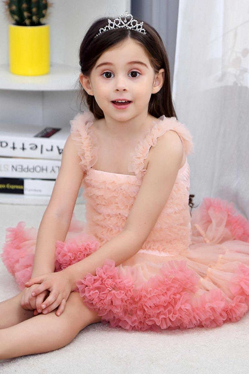 Prinzessin Tutu Kleid Geburtstagsfeier Tüll Mädchen Kleid (T410004)