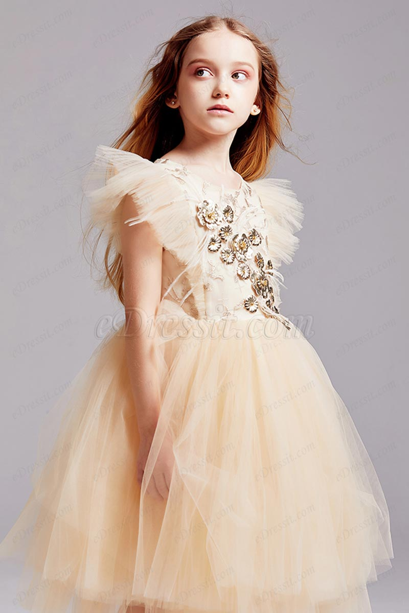 eDressit High Quality Heart Lace and Tulle Flower Girl Gown (T27004)