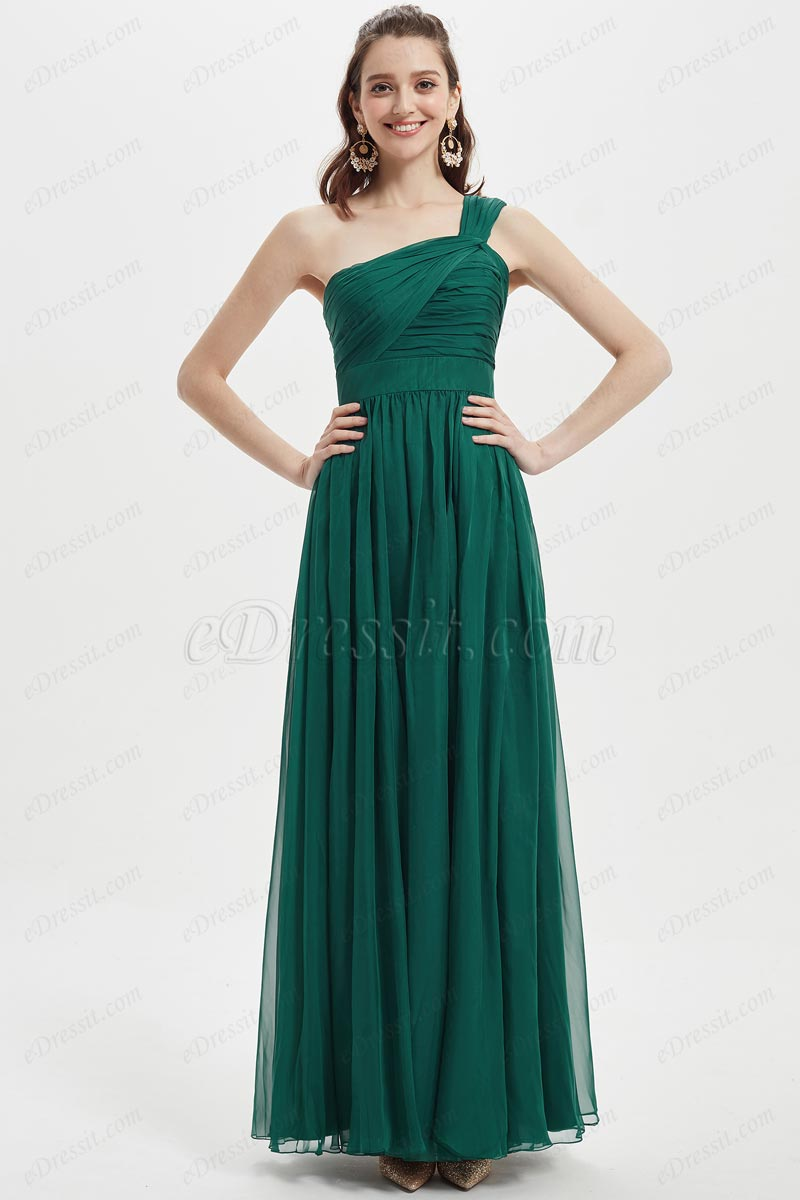 eDressit One Shoulder Green Wedding Party Bridesmaid Dress (07218804)