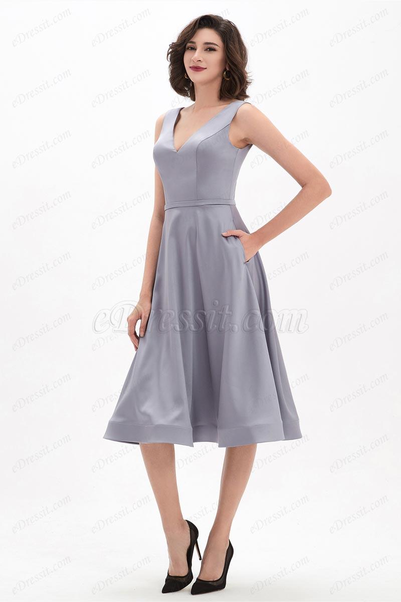 eDressit Grey V-Cut Straps Elegant Occasion Short Party Dress (04210708)