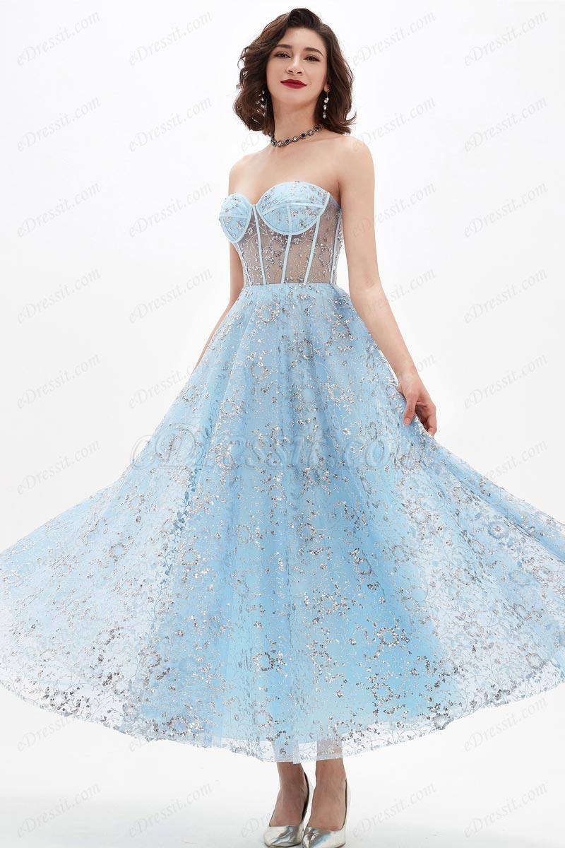 eDressit Robe de Soirée Bustier En Tulle Bleu Brillant (04210232)
