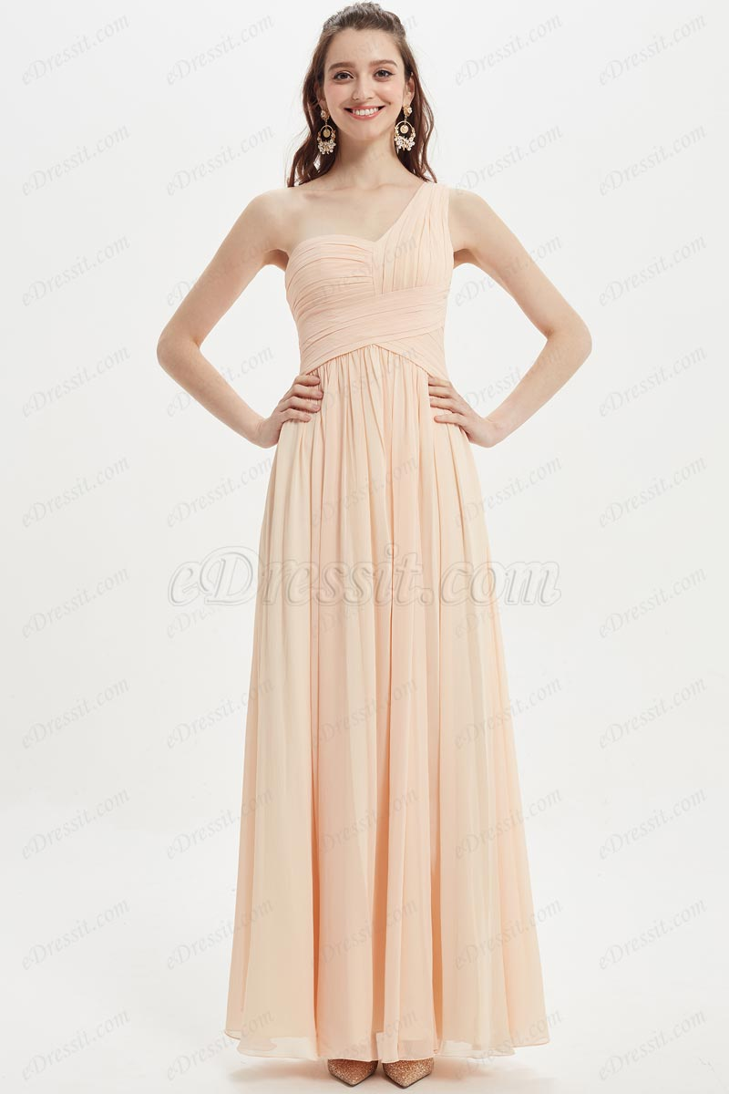 eDressit Sexy One Shoulder Chiffon Wedding Bridesmaid Dresses (07210610)