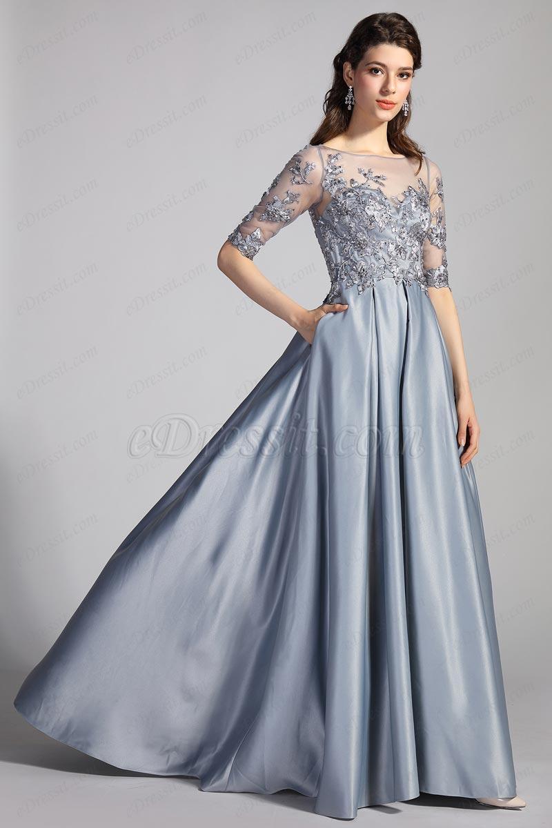 eDressit Формальное вечернее платье с рукавами и рукавами (02204208)