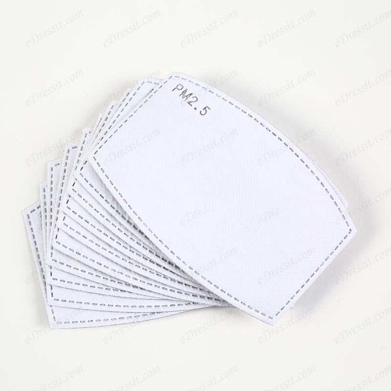 PM2.5 Activated Carbon Filters 5 Layers Replaceable Filters (10 PCS) (Mask008)