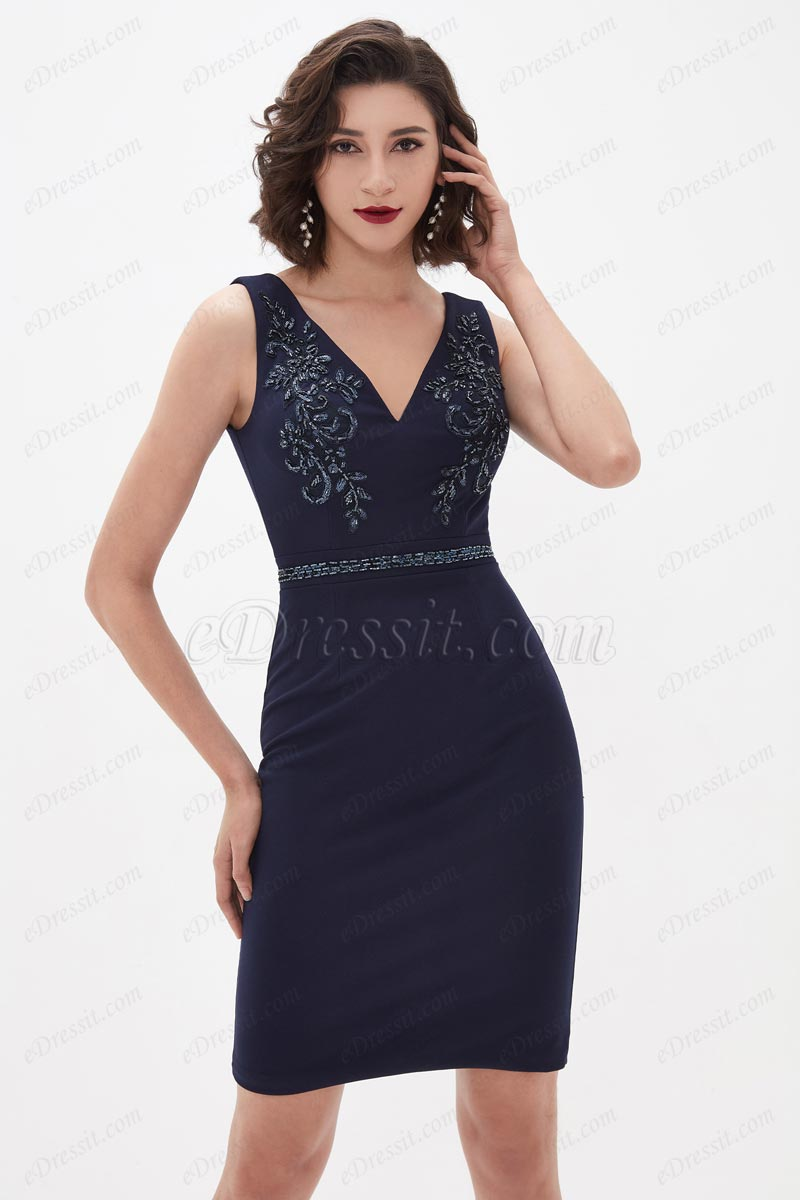 eDressit Sexy V-Cut Lace Stretchy Fabric Short Cocktail Dress (03210305)