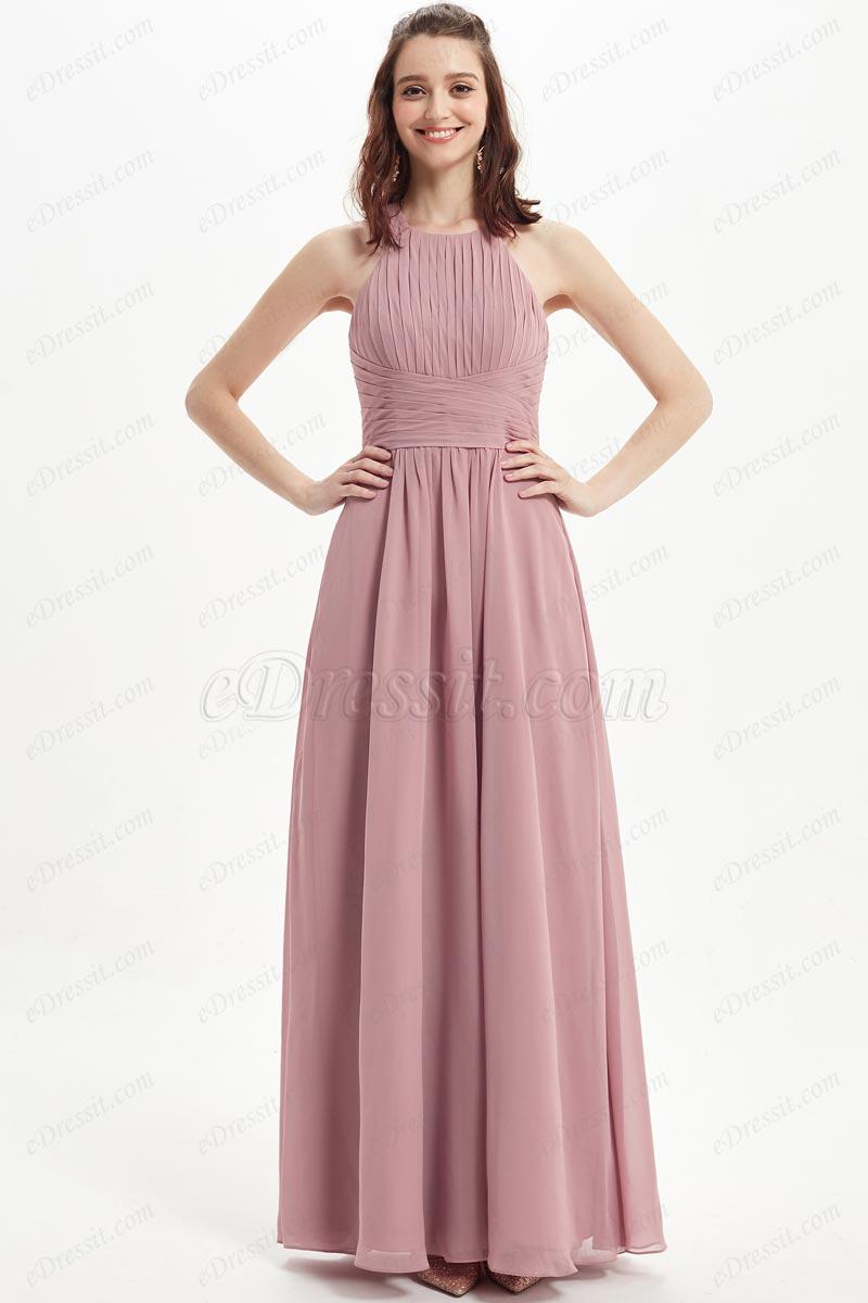 eDressit Nice Halter Pleated Top Chiffon Bridesmaid Dress (07217701)