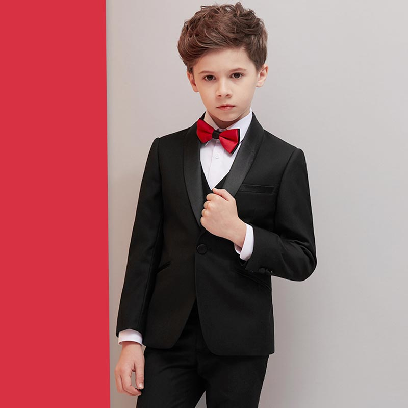 New Notch Lapel 5 Pieces One Button Boys Suit (T16022)