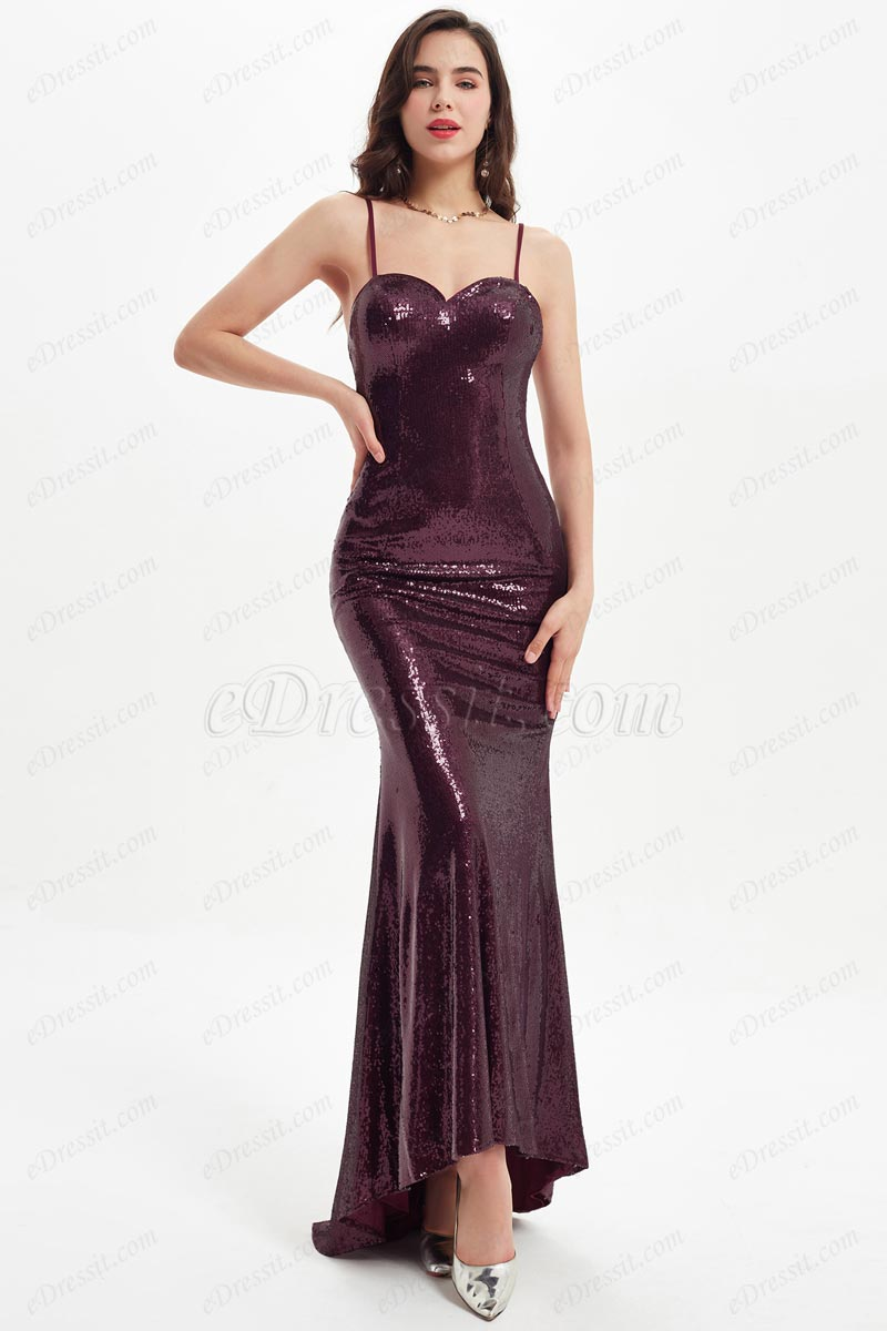 eDressit Sequins Spaghetti Straps Wedding Bridesmaid Dress (07219117A)