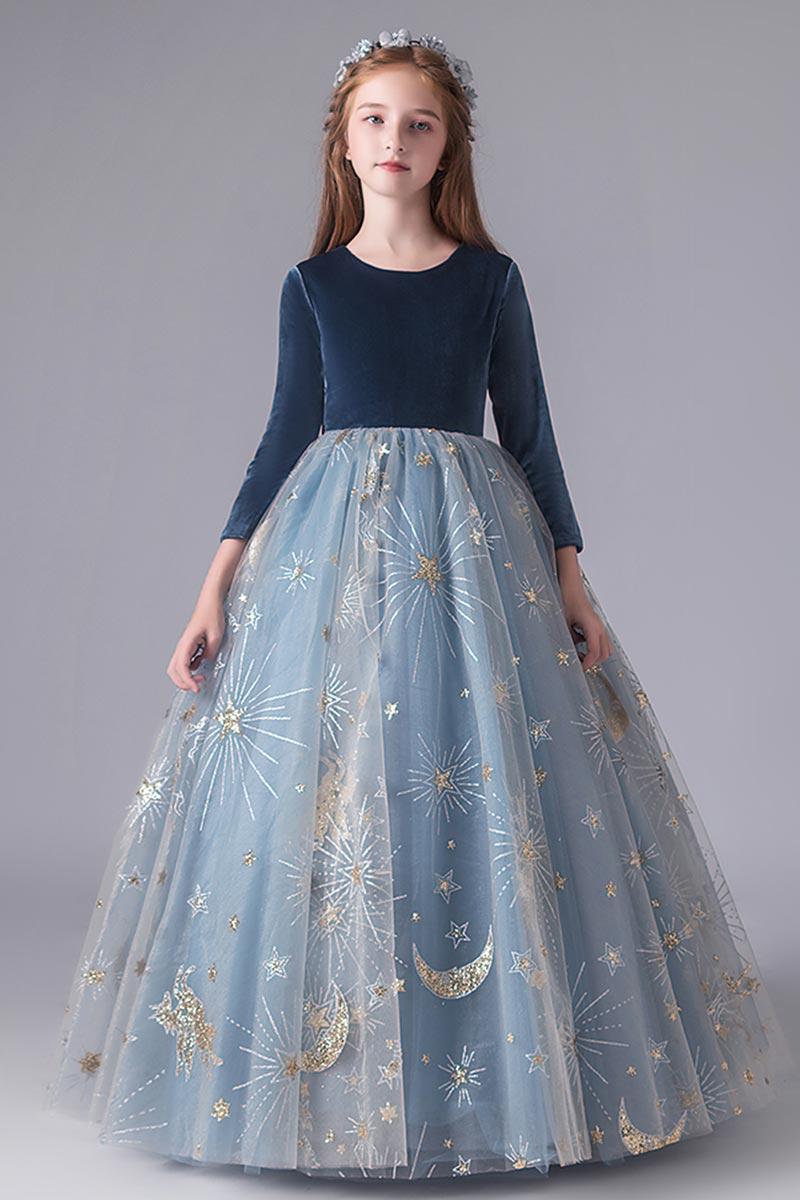eDressit Lovely Blue Sleeves Wedding Party Flower Girl Dress (27211705)