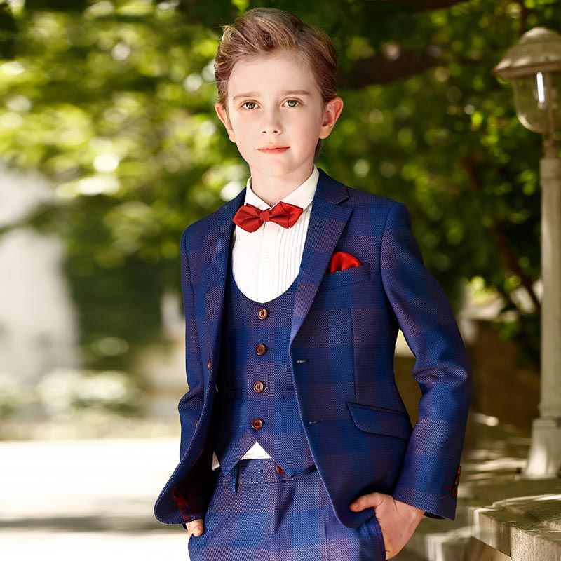 New Tip Top 5 Pieces Slim Fit Kids Boys Suit (T16016)