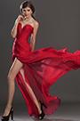 eDressit Stylish Ruched bodice Red Evening Dress (00120502)