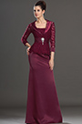 eDressit Elegant Wine Satin Lace Mother of the Bride Dress