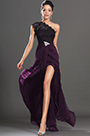 eDressit Dark Purple Once Lace Shoulder High split Evening Dress