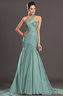 New One Diagonal Shoulder Long Mint Green Evening Dress (00132904)
