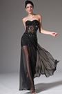eDressit Strapless Sweetheart Black Evening Dress (00140900)