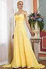 eDressit New Yellow Spaghetti V-Cut  Bridesmaid Evening Dress (00200303)