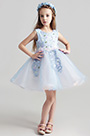 eDressit Lovely Light Blue Short Girl Wedding flower Girl Dress (28195305)
