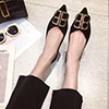 eDressit Fashion Suede Toe Closed Pointed Flat Shoes (0919070)