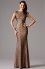 Capped Sleeves Open Back Evening Gown Bridesmaid Dress (07160320)