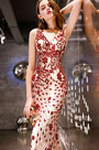eDressit Sexy Red V-Cut Beads Party Prom Ball Dress (36220402)