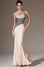 eDressit Champagne One-Shoulder Sheath Evening Dress(00142314)