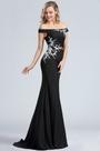 eDressit Black Off Shoulder Lace Applique Evening Dress (00171600)