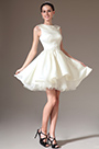 eDressit Lapel Sleeveless Embroidered Short Bridal Dress (01140307)