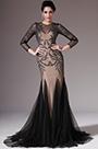 eDressit Black&Light Brown Long Sleeves Evening Prom Dress(02145200)