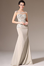 eDressit Champagne Sheer top Mother of the Bride Dress (26142614)