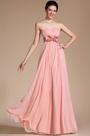 Simple Elegant Light Pink Strapless Bridemaids Dress(C00117801)