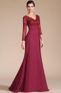 Graceful V-Neck Long Slevees Mother of the Bride Dress (C26140402)