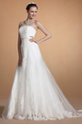 Strapless Lace Empire Waistline Wedding Gown (C37142507)