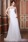 One Shoulder Sheer Beaded Back Wedding Dress Bridal Gown (02133107)