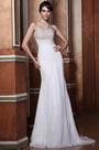 Strapless Flat Neckline Beaded Lace Applique Wedding gown (C02133807)