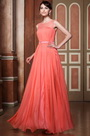 Stunning Sleeveless Illusion Neck High Slit Evening Dress Formal Gown (02144057)