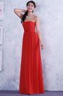 Красное A-силуэт Юбка без Рукава Плиссированное Вечернее Платье  (C36145102)