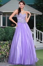Noble Purple Sweetheart Fully beaded Top Fluffy Ball Gown Graduation Dress (C36143206)