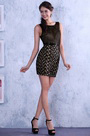 Little Black Sleeveless Cocktail Dress Party Dress(C35143200)